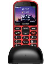 Aligator A880 GPS Senior + nabíjecí stojánek, červený